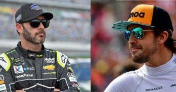 Fernando Alonso e Jimmie Johnson