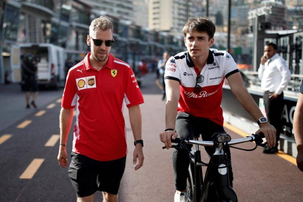 presentazione Ferrari SF90 coppia ferrari Vettel Leclerc