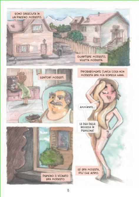 Una pagina di Pepe rosso che introduce la storia