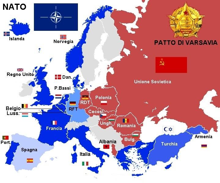 L'Europa prima del 1991 - immagina presa dal web