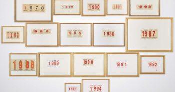 MMI Today 9 marzo Alcuni famosi calendari di Alighiero Boetti, Collezione privata. (foto dal web)