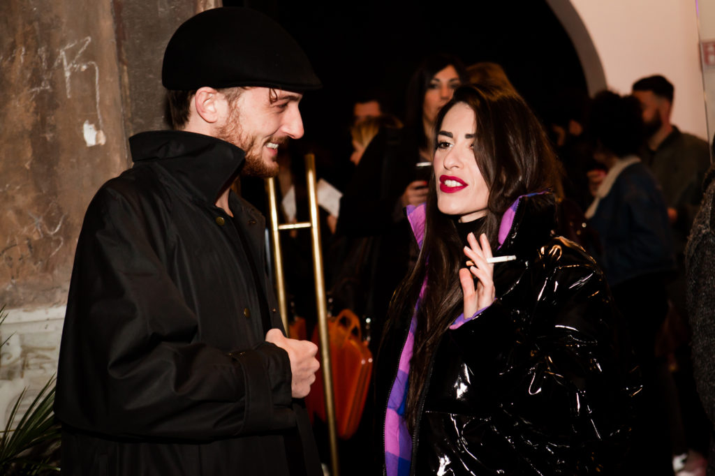 Teodoro Giambanco e Roberta Pitrone alla prima di Loose Ends all'OFF/OFF Theatre. Foto Cosimo Sinforini