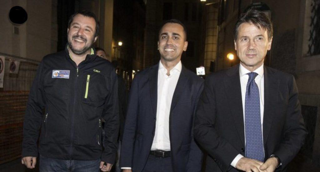 """""""Conte e i vicepremier – Photo Credit: www.ilmessaggero.it"""" Tav"""