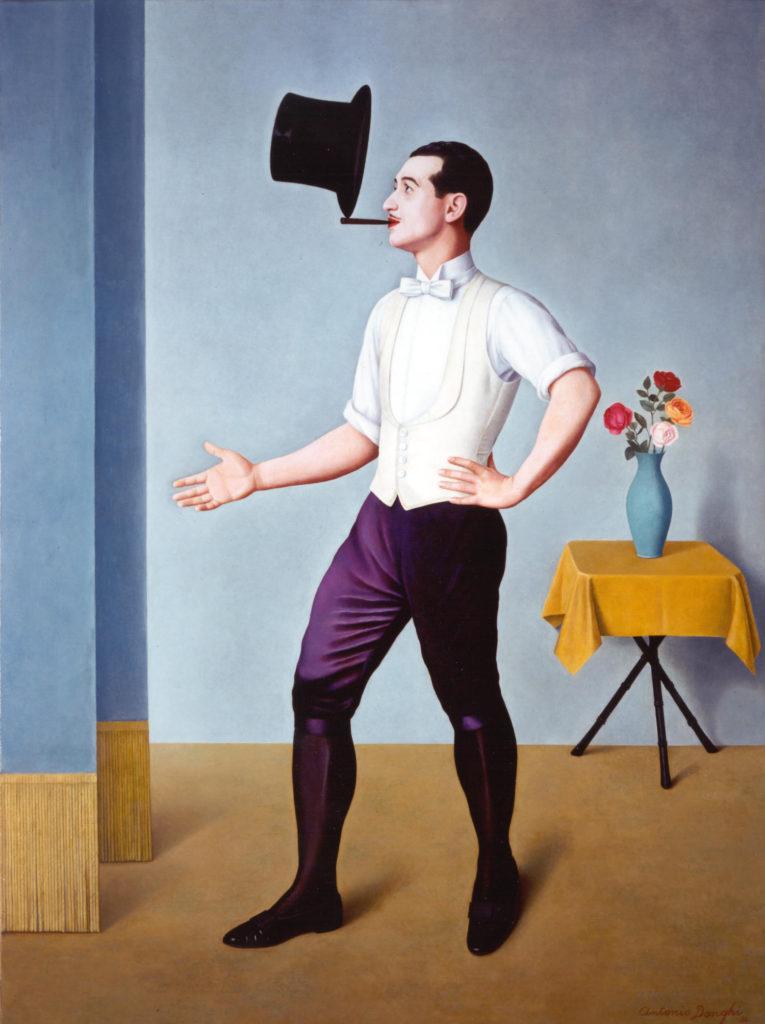Antonio Donghi, Il Giocoliere, 1936, Unicredit Art Collection (immagine dal web) #MMIToday |Da Magellano a Kosen-rufu