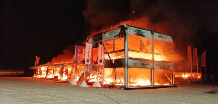 MotoE incendio a Jerez - Photo credit: gpone.com