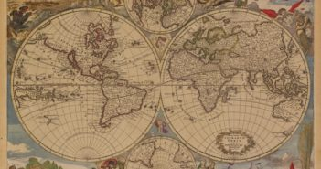 Nova Totius Terrarum Orbis Tabula : Antique Map of the World by: Dankerts 1685 ) (foto dal web)