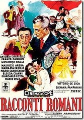 Locandina del film Racconti Romani di Gianni FRANCIOLINI  vincitore del premio David di Donatello per la Miglior Regia nel 1956. (immagine dal web)