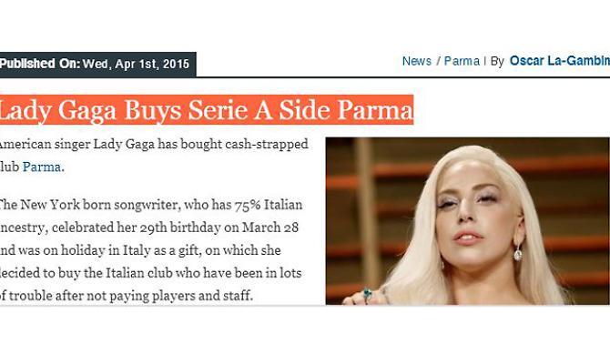 Lady Gaga ed il Parma