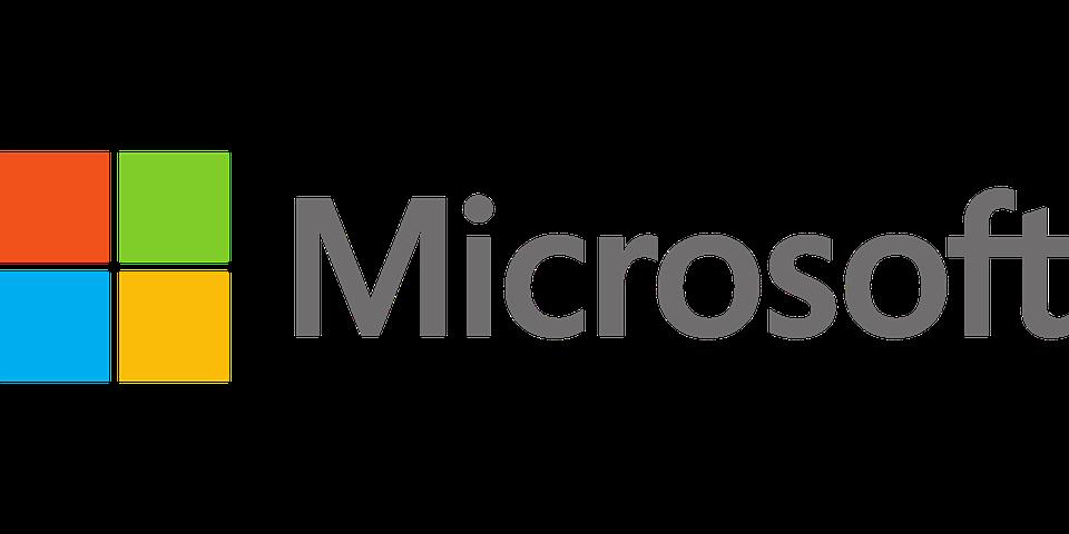 La finestra con quattro riquadri uno rosso, uno azzurro, uno verde, uno giallo e la scritta Microsoft