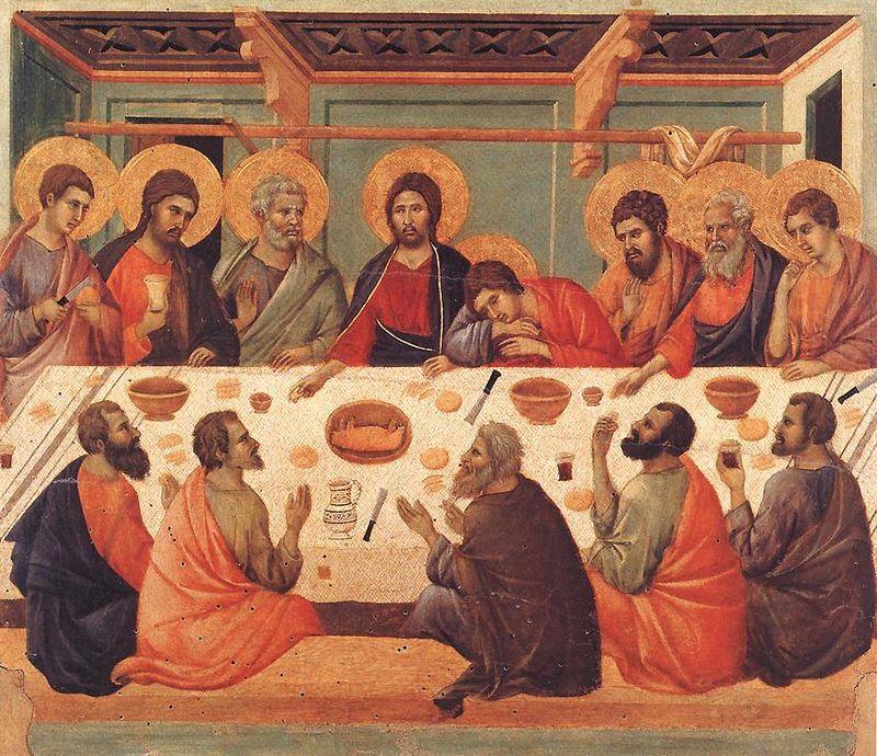 Una delle molte raffigurazioni pittoriche dell'Ultima Cena, che ispira il Giovedì Santo.