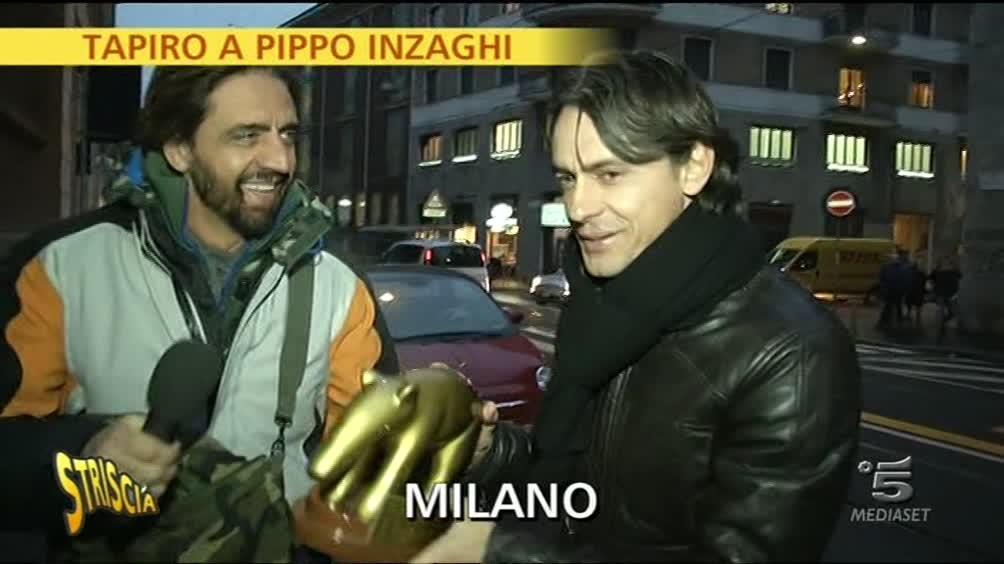 Tapiro a Pippo Inzaghi