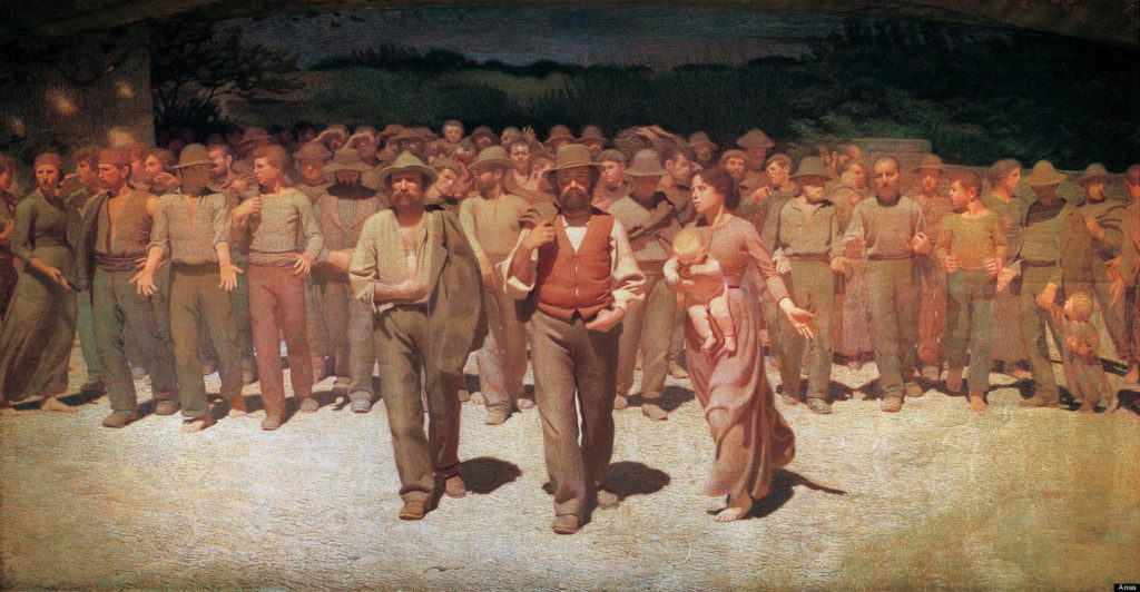 Giuseppe Pelliza da Volpedo - Il Quarto Stato (foto dal web) La festa dei lavoratori