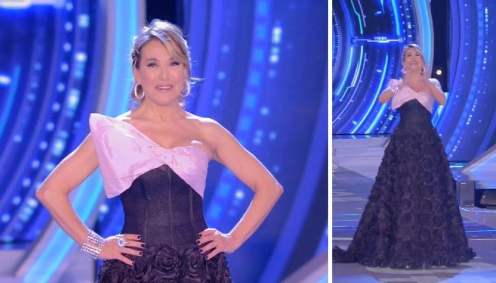"""""""L'outfit di Barbara D'Urso – Photo Credit: dilei.it""""  grande fratello 16"""