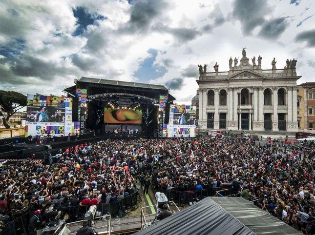 Concerto del Primo Maggio a Roma (foto dal web) festa dei lavoratori