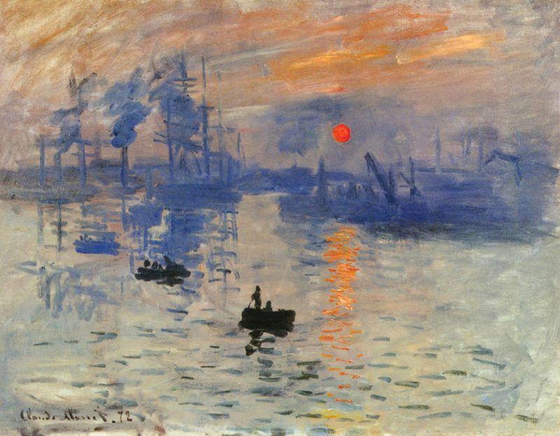 """Claude Monet -"""" Impressione: levar del sole"""""""