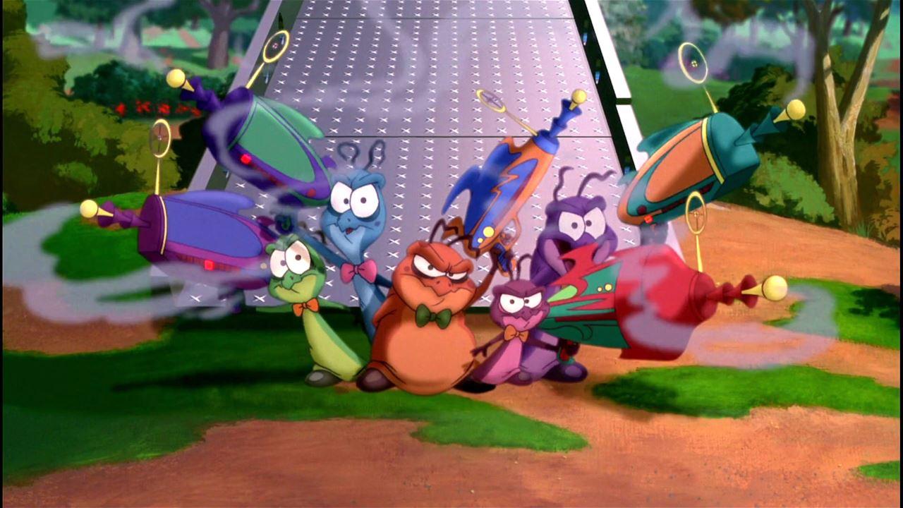 """Il gruppo di piccoli alieni di """"Space Jam""""."""
