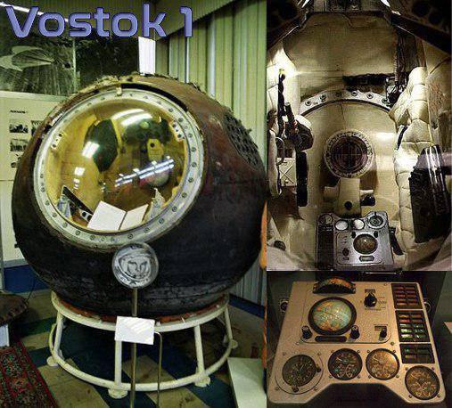 La capsula Vostok 1 che ospito Jurij Gagarin il 12 Aprile 1961