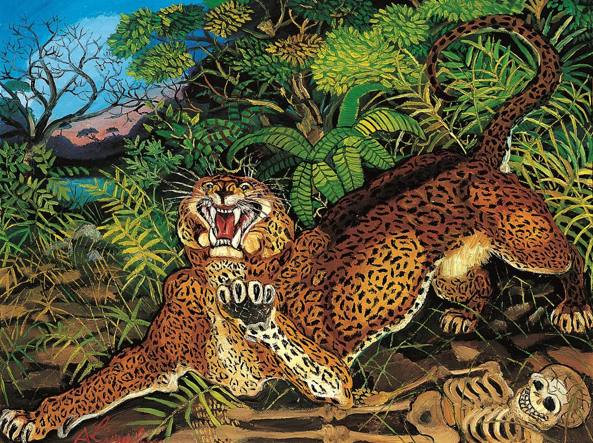 Vittorio Sgarbi - Antonio Ligabue - Leopardo (foto dal web)