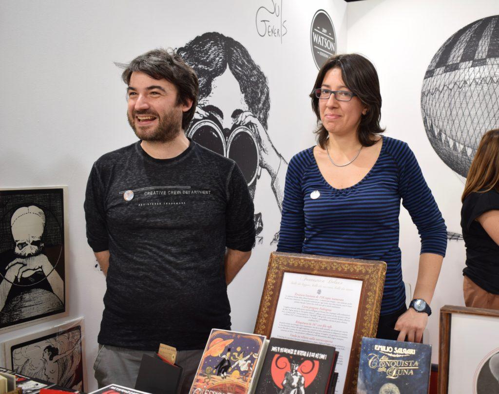 Federico Cenci e Cristina Barone allo stand di Cliquot (photo credits: Valeria Sittinieri)