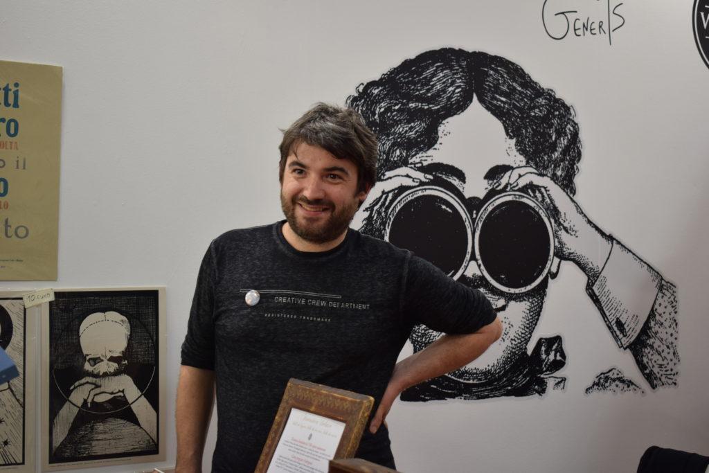 Federico Cenci allo stand di Cliquot (photo credits: Valeria Sittinieri)