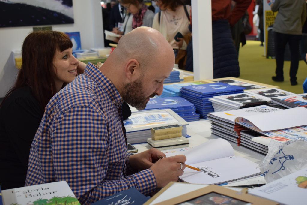 Salone del Libro - stand Lavieri edizioni (photo credits: Valeria Sittinieri)