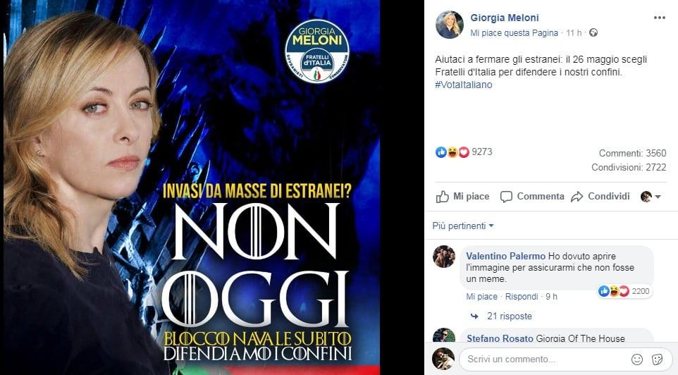 Giorgia Meloni si batte per le zucchine di mare italiane