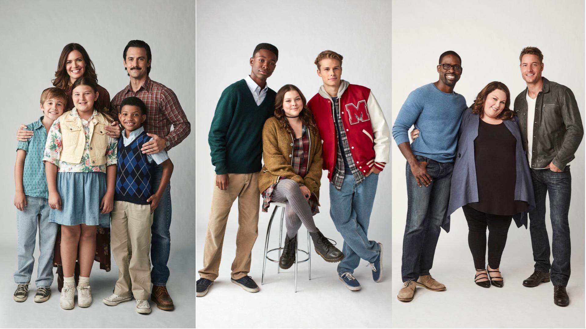"""Il cast di """"This is us"""" a confronto nelle diverse fasi temporali."""