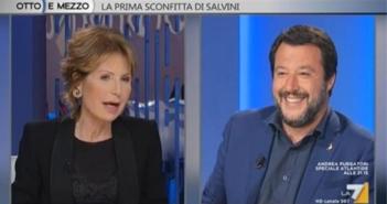 Lili Gruber e Matteo Salvini