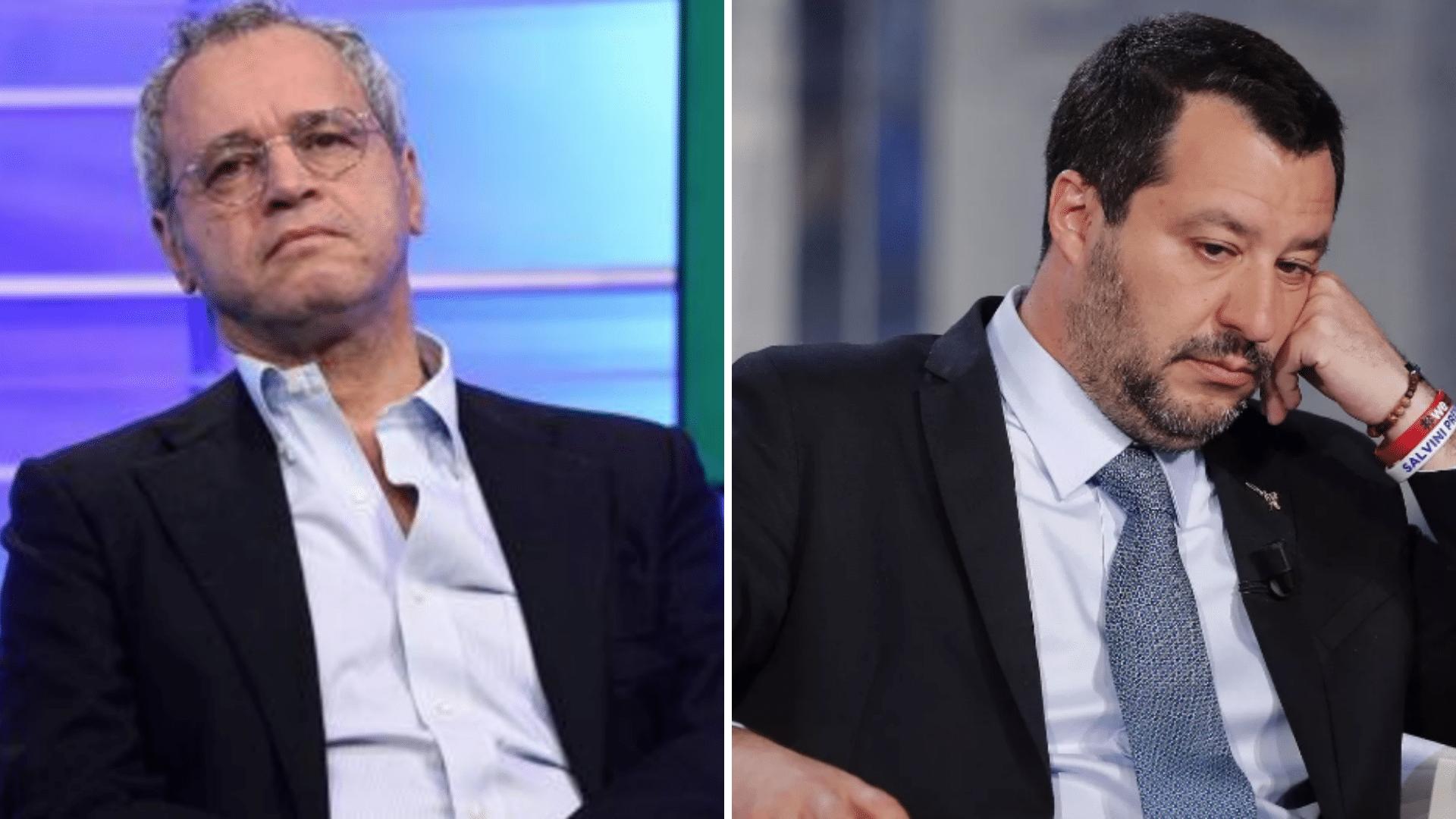 Mentana ha risposto alle critiche di Salvini sul tg La7