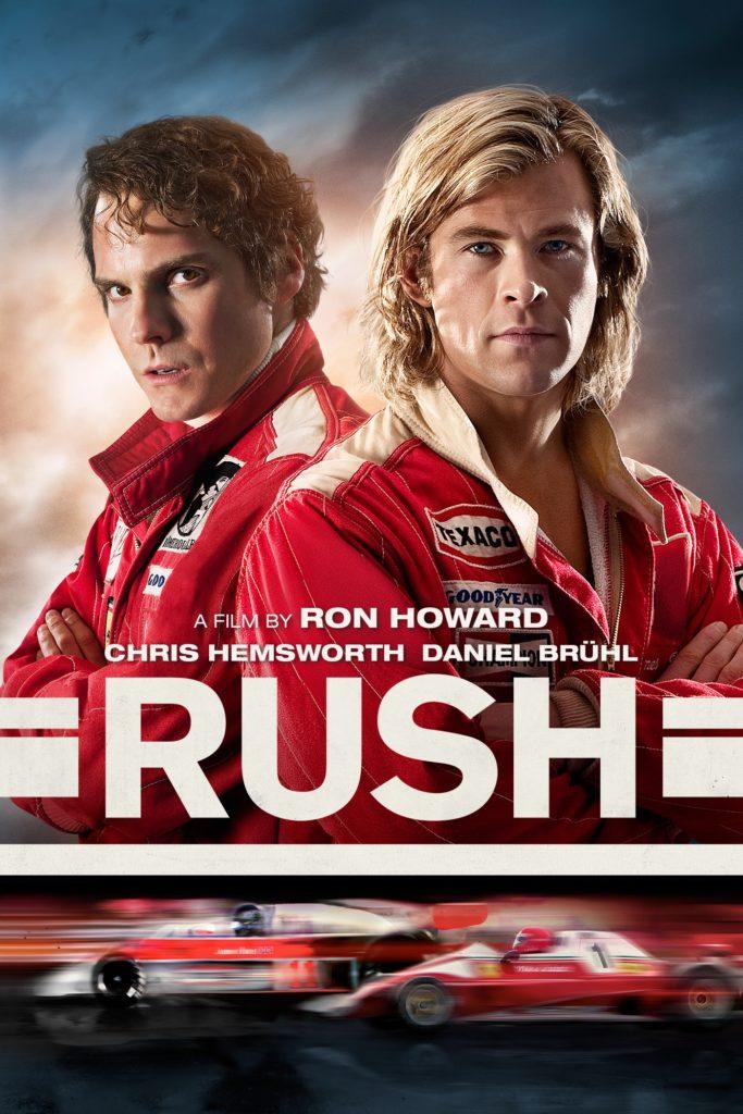 Locandina del film Rush incentrato sulla rivalità tra Lauda e Hunt