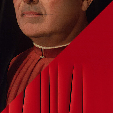 Vittorio Sgarbi - Antonello da Messina e Lucio Fontana a confronto (foto dal web)