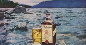 Pubblicità vintage dello scotch Ballantine's. (immagine dal web)