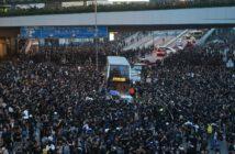 Folla manifestanti proteste Hong Kong legge etradizione