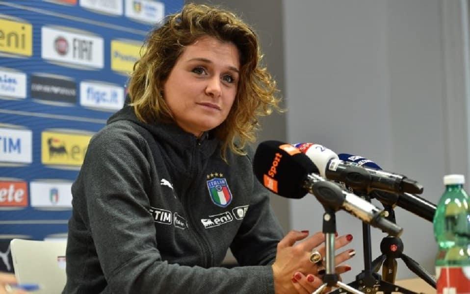 """""""Cristiana Girelli – Photo Credit: tg24.sky.it"""" le azzurre della nazionale di calcio"""