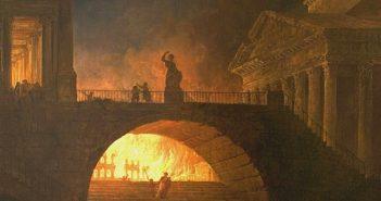 Rappresentazione pittorica dell'incendio di Roma attribuito a Nerone