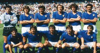 Italia Campione del Mondo nell'82: la formazione completa fotografata