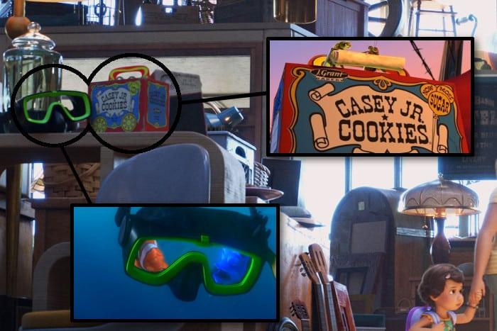 """Easter egg in """"Toy Story 4"""": la maschera di Nemo e la scatola di A bug's life."""