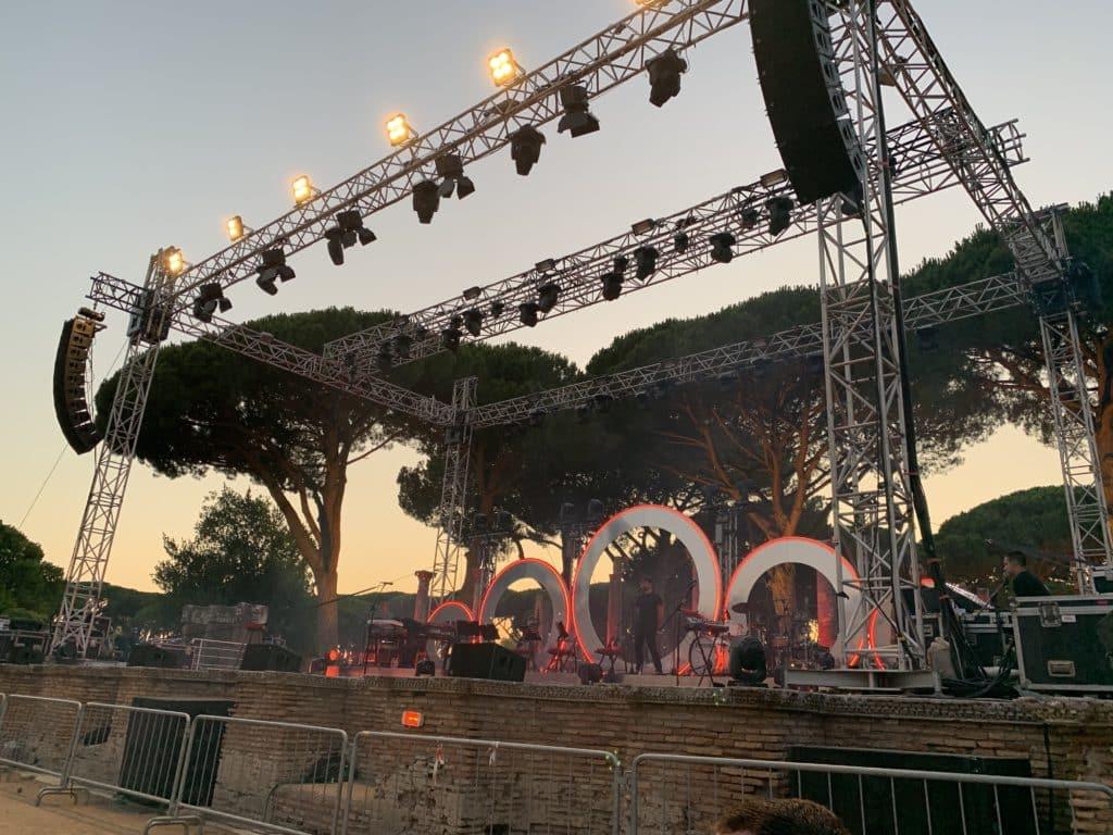 Il palco di Levante ad Ostia Antica © Nicky Abrami