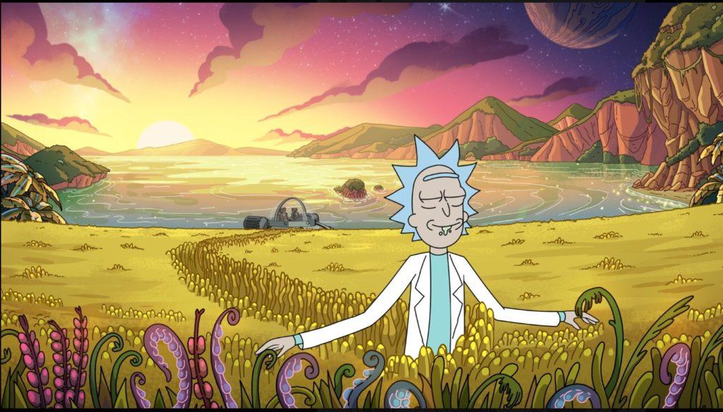 Una delle due prime immagini della quarta stagione di Rick and Morty