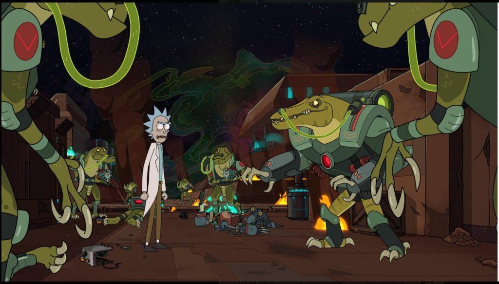 Una delle prime due immagini della quarta stagione di Rick and Morty
