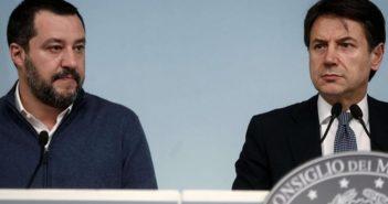 Matteo Salvini e Giuseppe Conte (Tiscali Notizie)