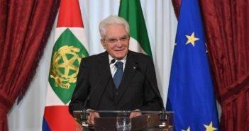 Sergio Mattarella parla ai partecipanti al Forum Ambrosetti